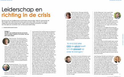 Artikel: The Optimist Leiderschap en richting in de crisis